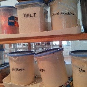 The variety of sourdough starters