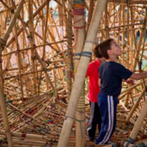 Doug and Mike Starns bamboo installation at the Israel Museum