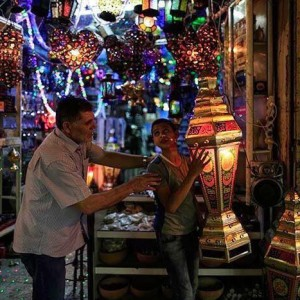 Buying Ramadan decorations in Jerusalem's Old City