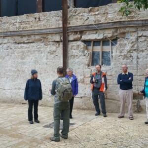 Touring the artist's colony in Jaffa